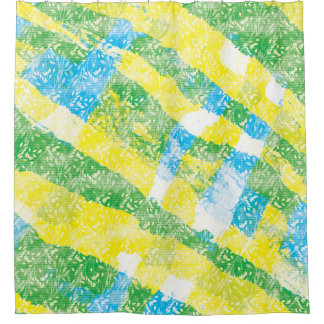 Yellow Stripe Shower Curtains