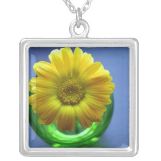 Yellow,Blue,Green Floral Pendant