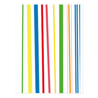 Yellow Blue Green Stripes Postcard