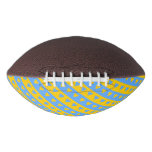 [ Thumbnail: Yellow/Blue Hearts and Stripes Pattern Football ]