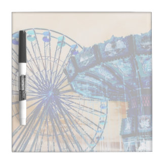 Yellow blue invert ferris wheel swings fair rides Dry-Erase board