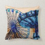 Yellow blue invert ferris wheel swings fair rides pillow