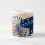 Yellow blue invert ferris wheel swings fair rides extra large mugs