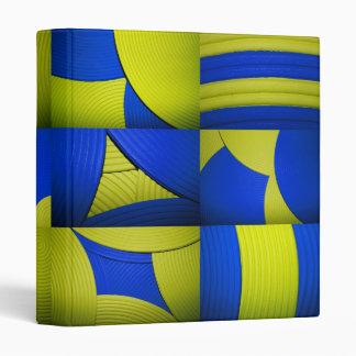 "Yellow & Blue Kaleidoscope 1"" Avery Binder"