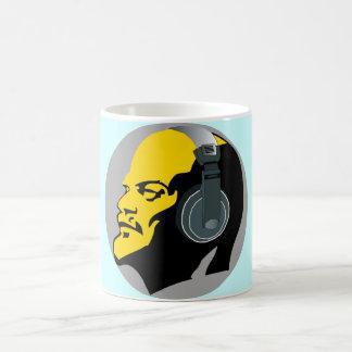 YELLOW & BLUE LENIN WITH HEADPHONES Classic Mug