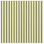 [ Thumbnail: Yellow & Blue Lines Fabric ]