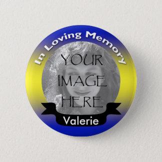 Yellow & Blue Memorial Photo Button