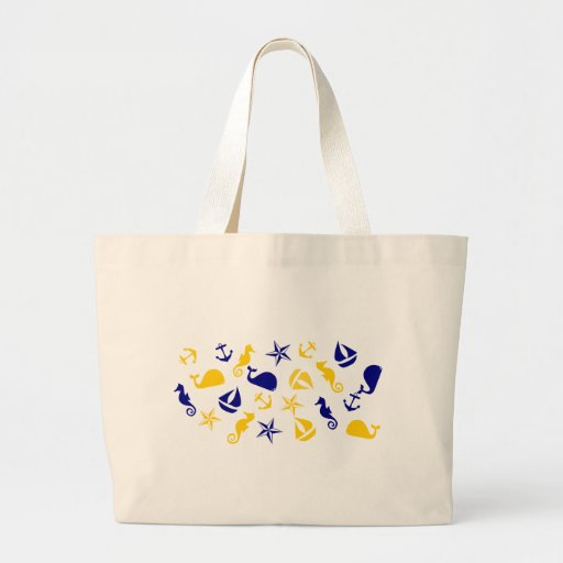 Yellow Blue Nautical Scatter Bags