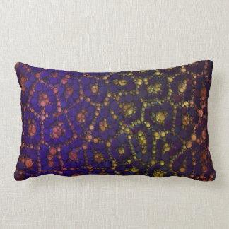 Yellow Blue Orange Cheetah Lumbar Pillow
