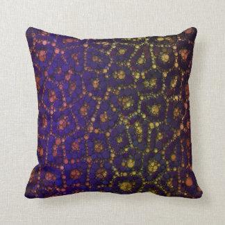 Yellow Blue Orange Cheetah Throw Pillow