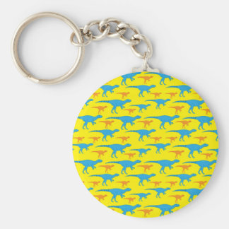 Yellow Blue Orange Dinosaur Designs Pattern Gifts Keychain