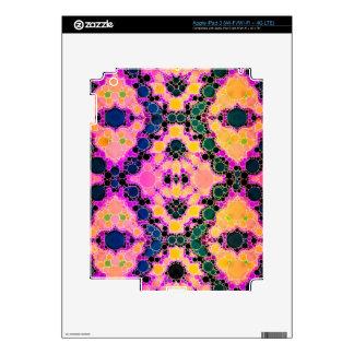 Yellow Blue Pink Abstract Pattern iPad 3 Skin