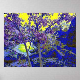 yellow blue purpleness poster