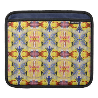 Yellow Blue Red Kaleidoscope design iPad Sleeve