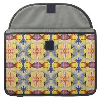Yellow Blue Red Kaleidoscope design MacBook Pro Sleeves