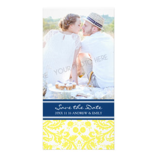 Yellow Blue Save the Date Wedding Photo Cards