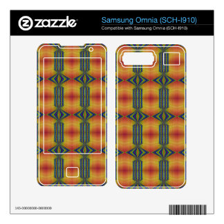 Yellow Blue southwestern pattern Skins For Samsung Omnia