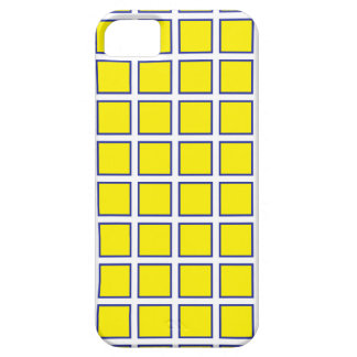 Yellow Blue Squares iPhone SE/5/5s Case