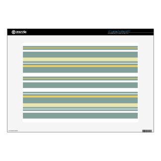 Yellow & Blue Striped Laptop Skin