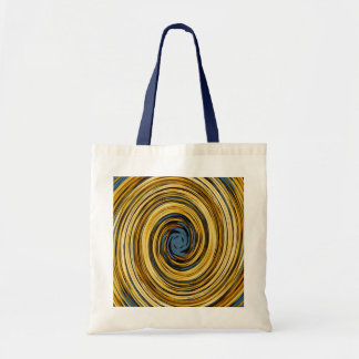 Yellow Blue Swirl Abstract Pattern Tote Bag