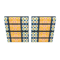 yellow blue Tile Pattern Abstract Canvas Print