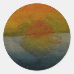 Yellow & Blue Watercolor Art Sticker