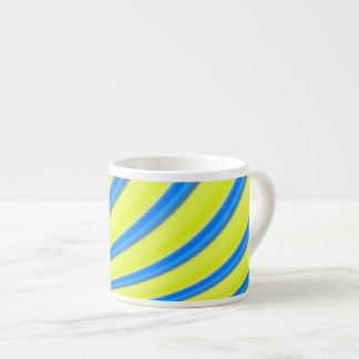 Yellow blue wave striped espresso Vol.20tw Espresso Cup