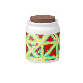 Yellow,Blue, White And Red Candy Jar by:da'vy