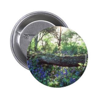 Yellow Bluebell wood, Howe Park Wood, Milton Keyne Pinback Buttons