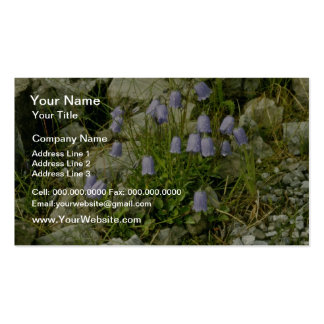 Yellow Bluebells flowers Double-Sided Standard Business Cards (Pack Of 100)