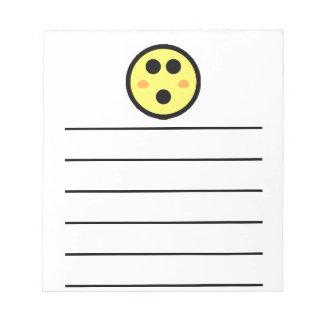Yellow Blushing Smiley Face Notepad