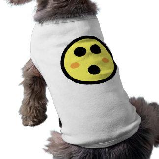 Yellow Blushing Smiley Face Pet Shirt