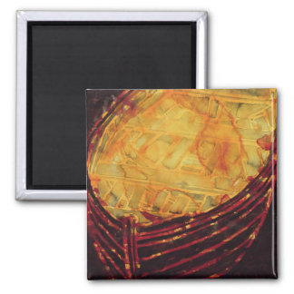 Yellow Boat 2007 2 Inch Square Magnet