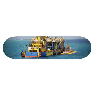 Yellow boat skateboard decks
