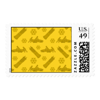 Yellow bobsled pattern stamps