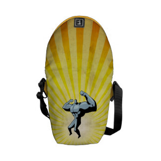 Yellow Bodybuilder Messenger Bag