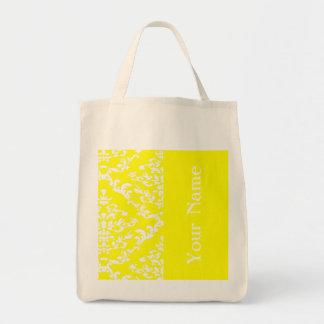 Yellow Bold Damask w/ name @ Emporiomoffa Tote Bag