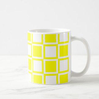 Yellow Bold Mod Squares Coffee Mug