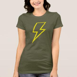 Yellow bolt outline shirt