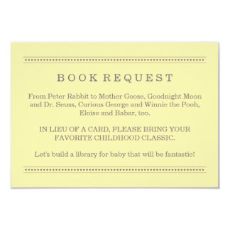 Yellow Book Request | Baby Shower Enclosure Card