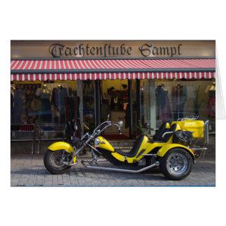 Yellow Boom Trike Card