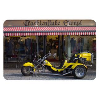 Yellow Boom Trike Rectangular Photo Magnet