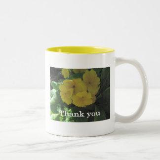 "Yellow bouquet  ""Thank you"" Two-Tone Coffee Mug"