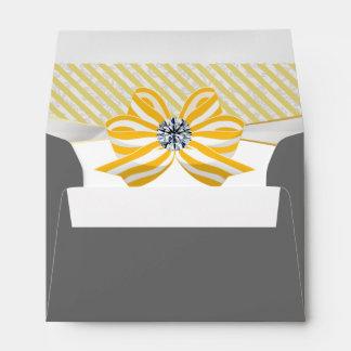 Yellow Bow with Diamond Center Piece Envelope