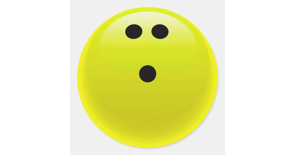 Yellow bowling ball