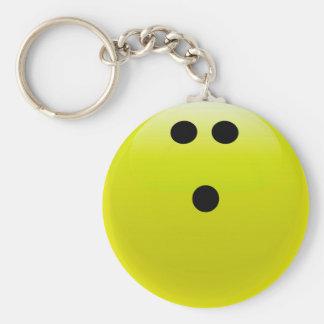 Yellow Bowling Ball Keychain