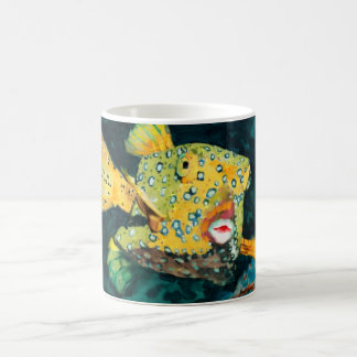 Yellow Box Fish Cute Flying Fish Coffee Mug