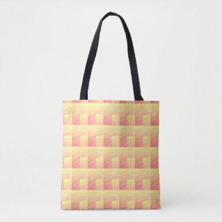 Yellow Box Weave Tote Bag