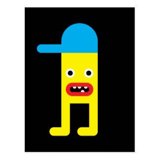 Yellow boy, blue cap postcards