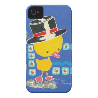 Yellow Boy Duckling with Top Hat Painting Blackberry Bold Case